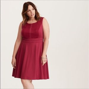 NWT Torrid Lace And Ponte Skater Dress 14